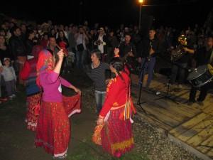 Gypsies dancing in Sibiu
