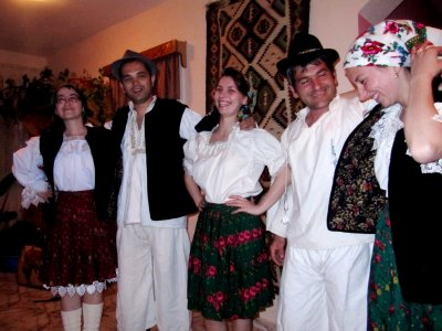 People in traditional costumes from Maramures