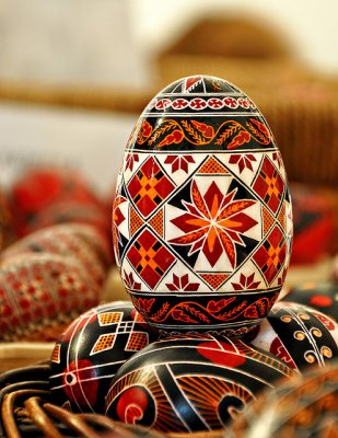 Painted egg from Bucovina. Photo by Gabriel Boicu